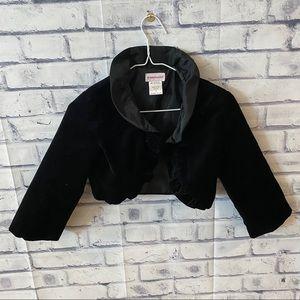 American Girl AG black velvet bolero jacket